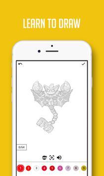Color by Number Pokemon Pixel Sandbox screenshot 5