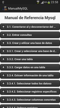 Manual de mysql apk screenshot