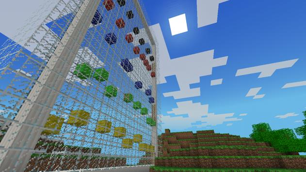 Parkour wall map for Minecraft poster