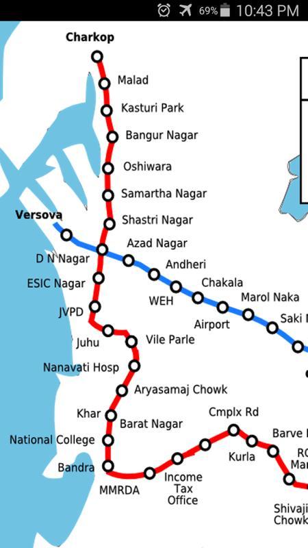 Mumbai Subway Map.Mumbai Metro Map For Android Apk Download