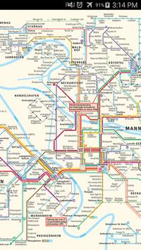 Mannheim Tram Map screenshot 1