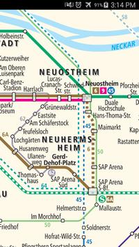 Mannheim Tram Map screenshot 2