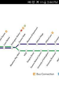 Nottingham Tram Map apk screenshot