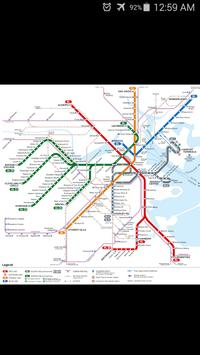 Boston Metro Map poster