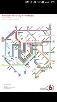 Braunschweig Tram & Bus Map poster