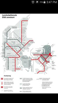 Denmark DBS Rail Map poster