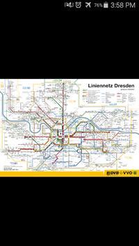 Dresden Metro Map poster