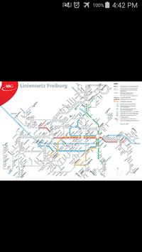 Freiburg Tram & Bus Map poster