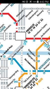Freiburg Tram & Bus Map screenshot 2