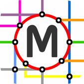 Ireland Rail System Map icon