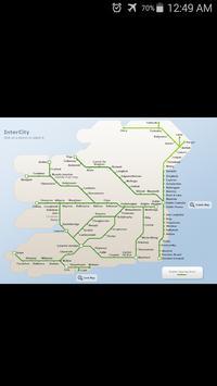 Ireland Rail System Map poster