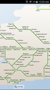 Ireland Rail System Map screenshot 1