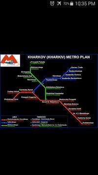 Kharkiv Metro Map poster