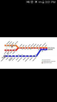 Recife Metro Map poster