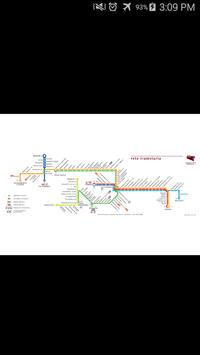 Rome Tram Map poster