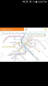Stuttgart Metro Map poster