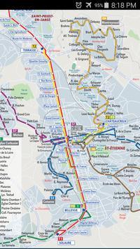 Saint Etienne Tram Map apk screenshot
