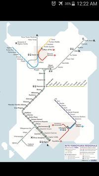 Sardinia Rail Map poster