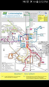 Schwerin Tram & Bus Map poster