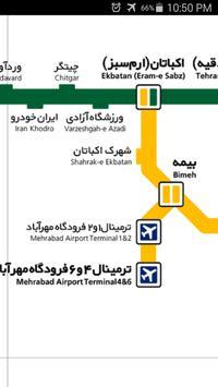 Tehran Metro Map screenshot 2
