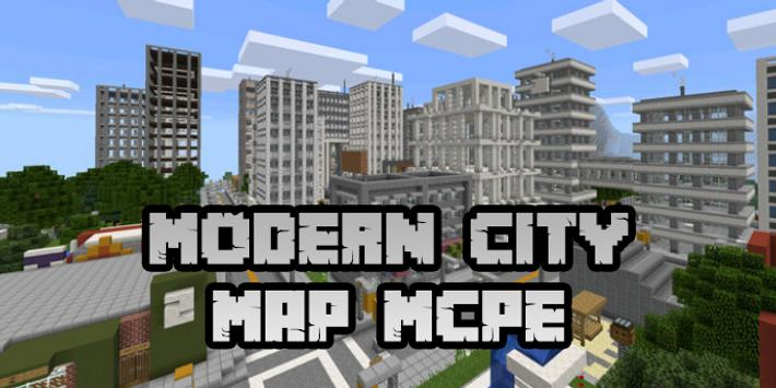 New Modern City Map For Minecraft PE For Android