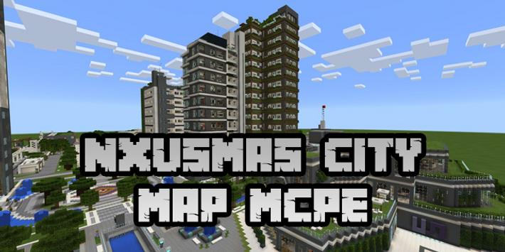 New NXUSMAS City Map for Minecraft PE for Android - APK Download