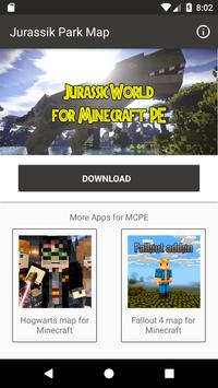Map Jurassic Craft addon for MInecraft PE poster