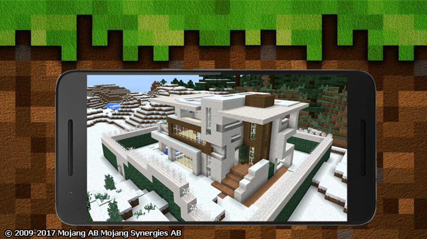 Modern redstone house mcpe poster