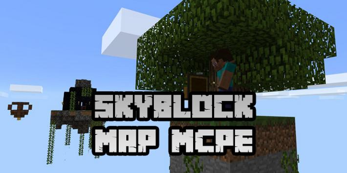 New Skyblock Map for Minecraft PE poster