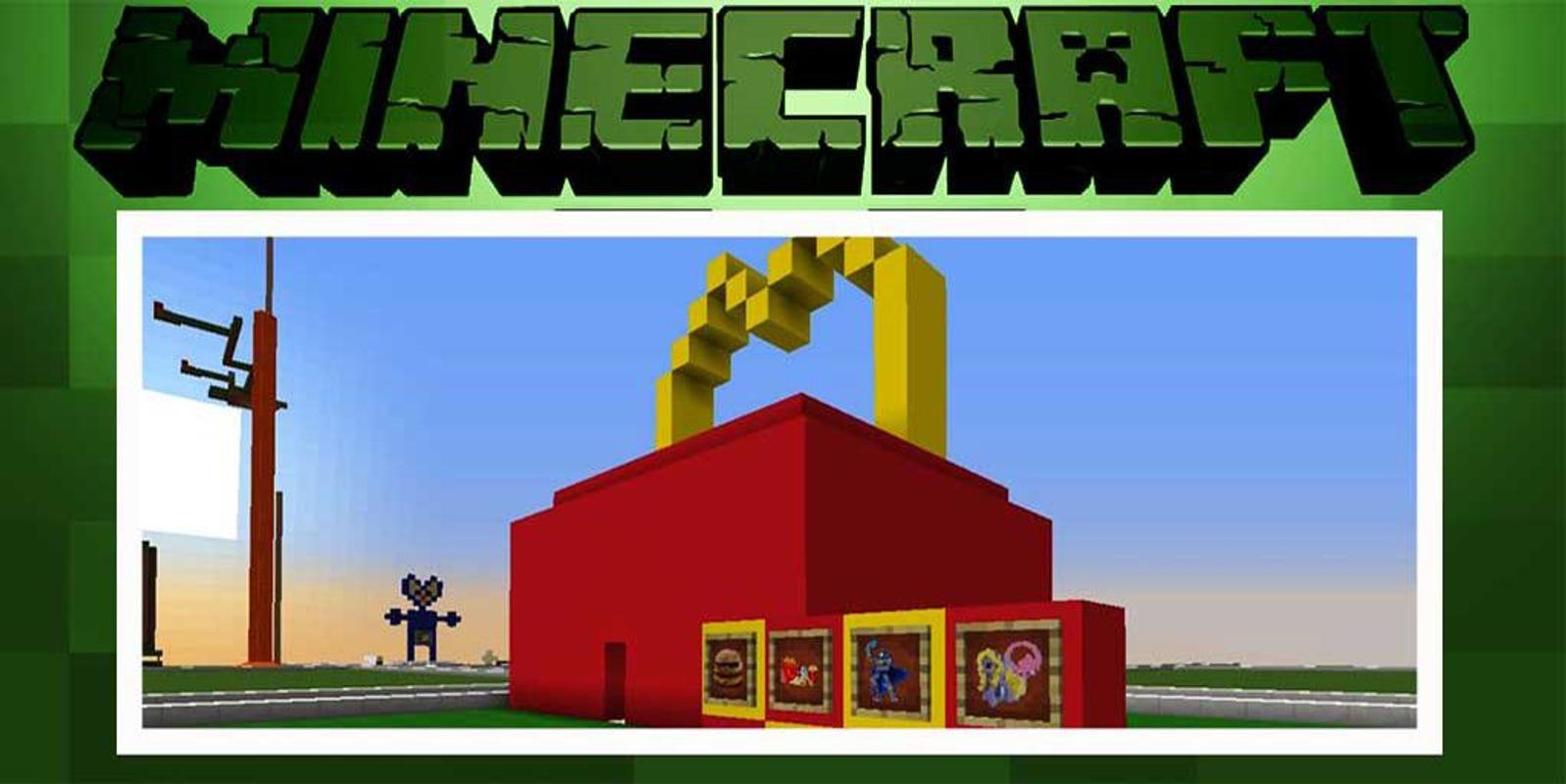 minecraft pe mcdonalds map download