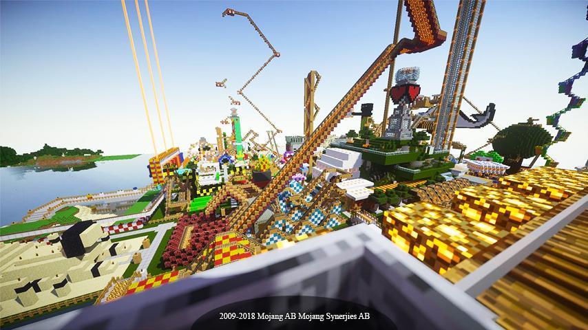 minecraft theme park download pe