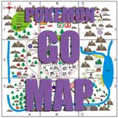 Go map online for Pokemon Go icon