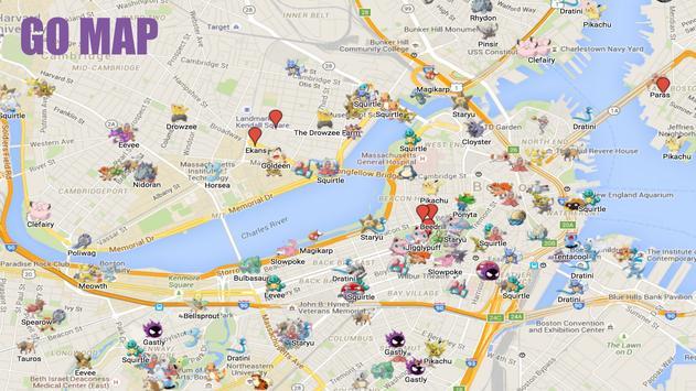 Go map online for Pokemon Go apk screenshot