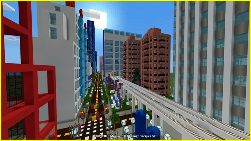 Skyscraper city map for Minecraft PE for Android - APK Download