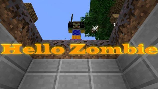 Hello Zombie Minecraft Map poster