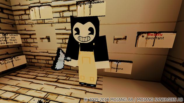 Map Bendy and the Hell Machine-2 for Minecraft poster