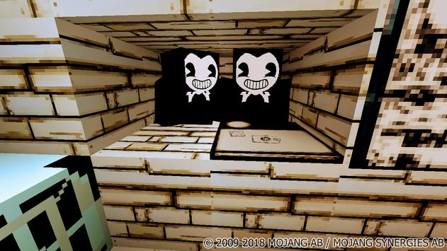Map Bendy and the Hell Machine-2 for Minecraft screenshot 7