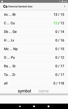 Chemical Symbols Quiz apk screenshot