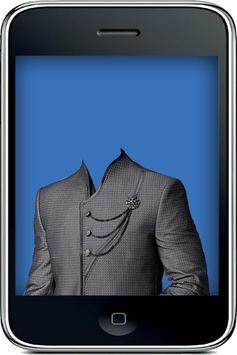 Indian Sherwani Suit Camera poster