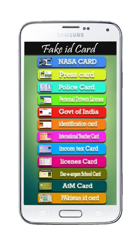 Fake Id Card Generator Pakistan Apk idea gallery