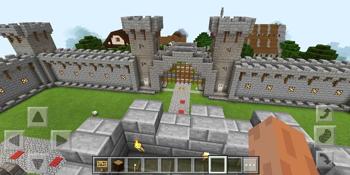 Map Castle Adventure for Minecraft poster