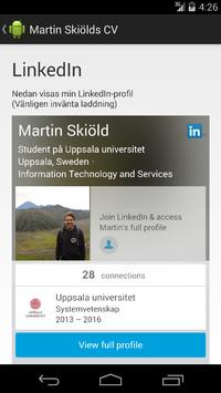 Martin Skiöld CV poster