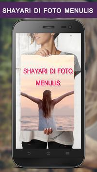 Write Indonesian Poetry on Photo poster