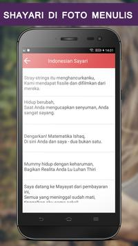 Write Indonesian Poetry on Photo screenshot 2