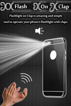 Flash Light on Clap apk screenshot