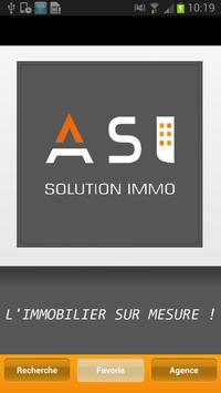AGENCE SOLUTION IMMO poster