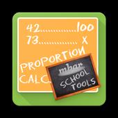Rule of three - Proportion Calculator icon