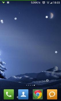 Winter Snowfall LWP Ads-free screenshot 1