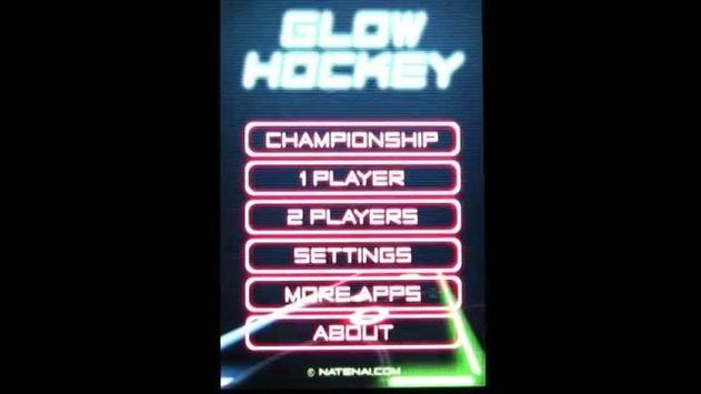 Guide Glow Hockey poster