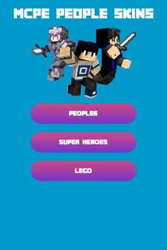 People Skins For Minecraft PE Free poster